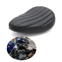 evomosa Motorcycle Solo Driver Seat Pad Saddle Leather Coushion For Harley Dyna Sportster XL883 XL1200 Custom Bobber Chopper