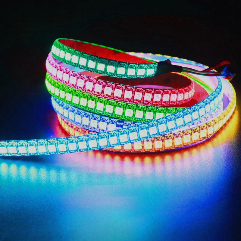 LED Pixel Strip light DC 5V WS2812 WS2812B Individually Addressable RGB Smart Pixels Strip 2812 IC Waterproof led band led strip image