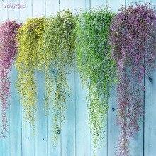 FENGRISE Искусственные цветы 80 см 1 шт., искусственные растения в виде листьев плющ, зеленая Гирлянда для украшения дома, свадьбы или вечеринки