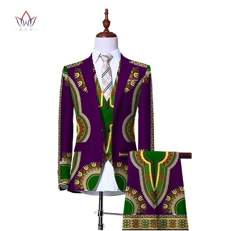 (Jacket+Vest+Pants)Blazers for Men 3 Piece Slim Fit Cowboy Wedding Suit Retro Gentleman Style Mens African Clothing 6XL WYN230