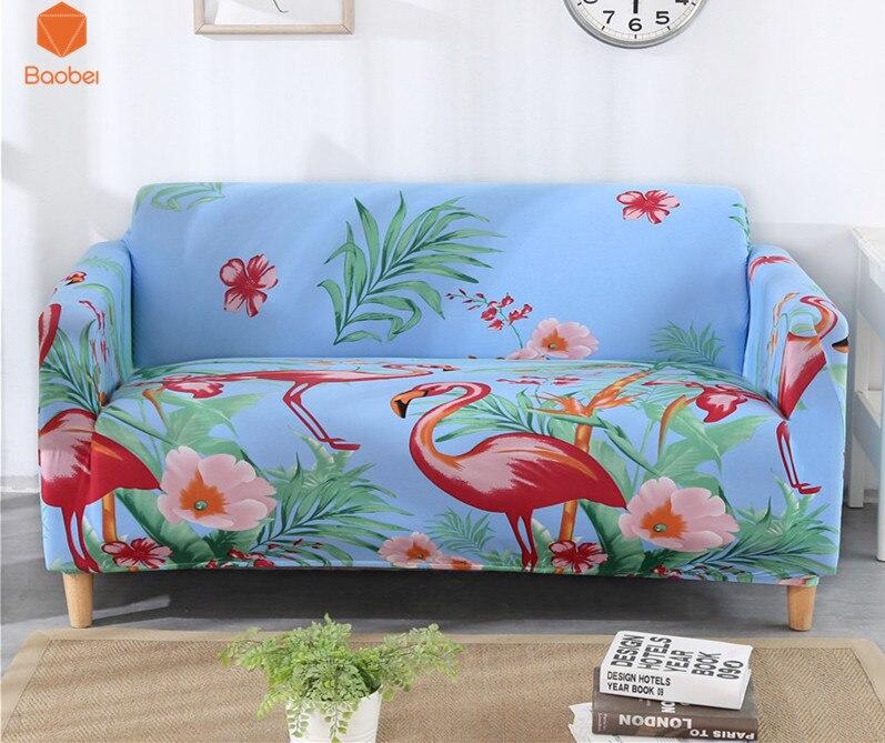 Briljant Flamingo Kussenovertrekken Sofa Strakke Wrap All-inclusive Antislip Sofa Cover Elastische Sofa Handdoek Single/twee/ Drie/vier-zits 43