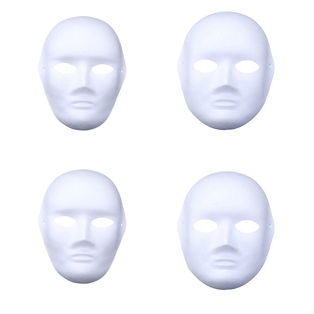 12pcs Children Party White Mask DIY Masquerade Halloween Blank Painting Mask