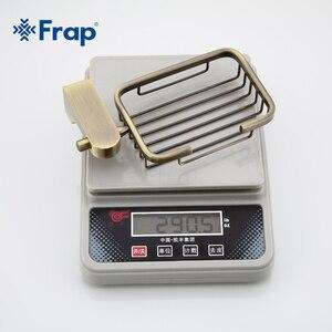 Image 2 - Frap estilo retro bronze acessórios do banheiro metal cesta saboneteira pratos saboneteira caso de sabão decoração para casa F1402 1