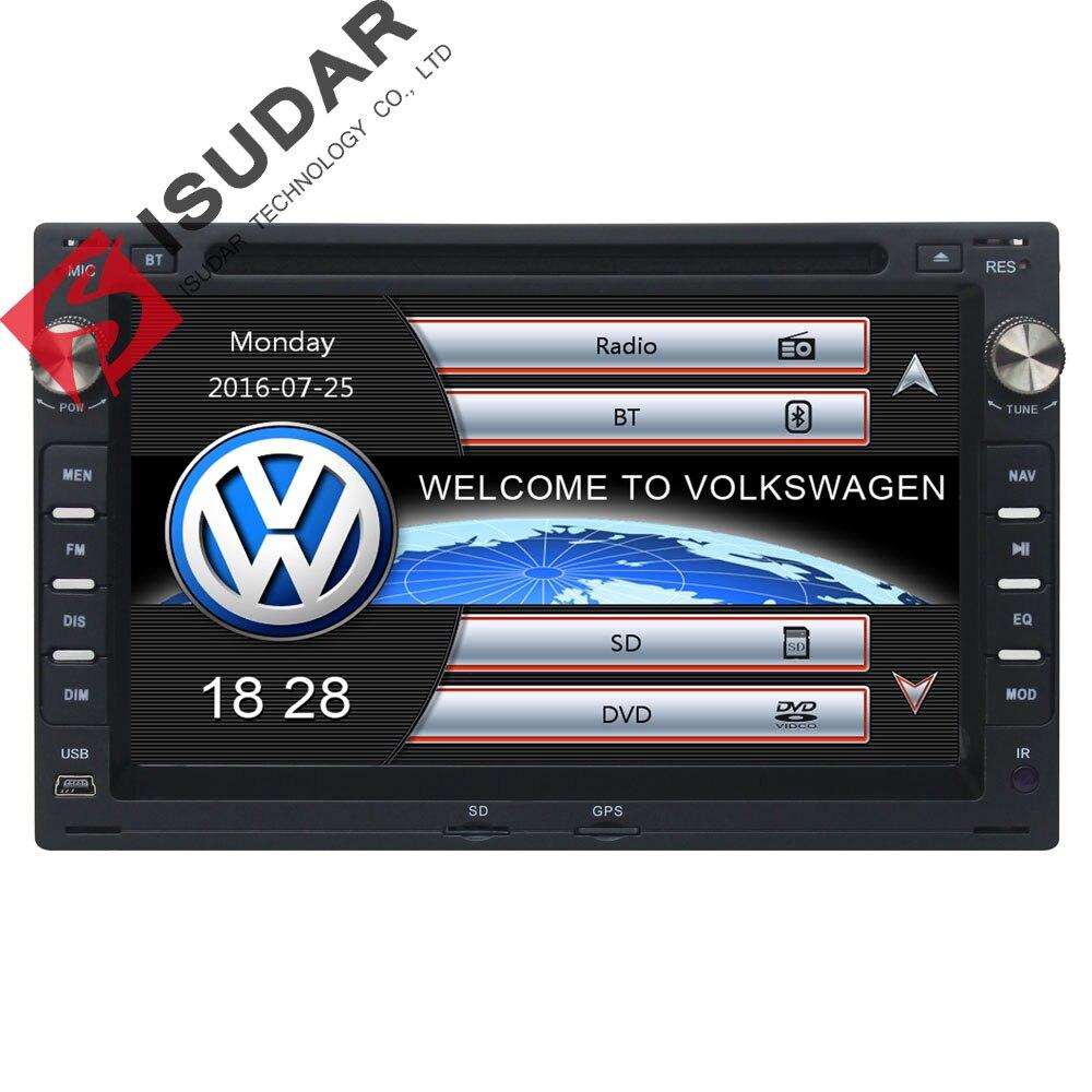 Isudar Voiture Multimédia Lecteur GPS 2 Din 7 pouce Pour VW/Volkswagen/PASSAT/B5/MK5/ GOLF/POLO/TRANSPORTEUR Radio fm BT 1080 p Ipod Carte