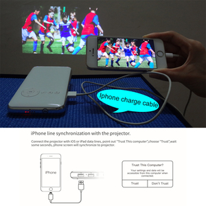 Image 2 - SmartIdea Android 7.1.2 5000mAh Battery Handheld Mini LED Projector WiFi Bluetooth DLP 1080P Beamer Support AirPlay Miracast AC3