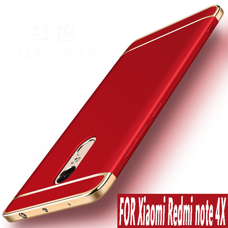Xiaomi Redmi Note 4x Case 5.5 inch Original Luxury Gold plating Shockproof Plastic Phone Cases for Xiaomi Redmi Note 4x cover