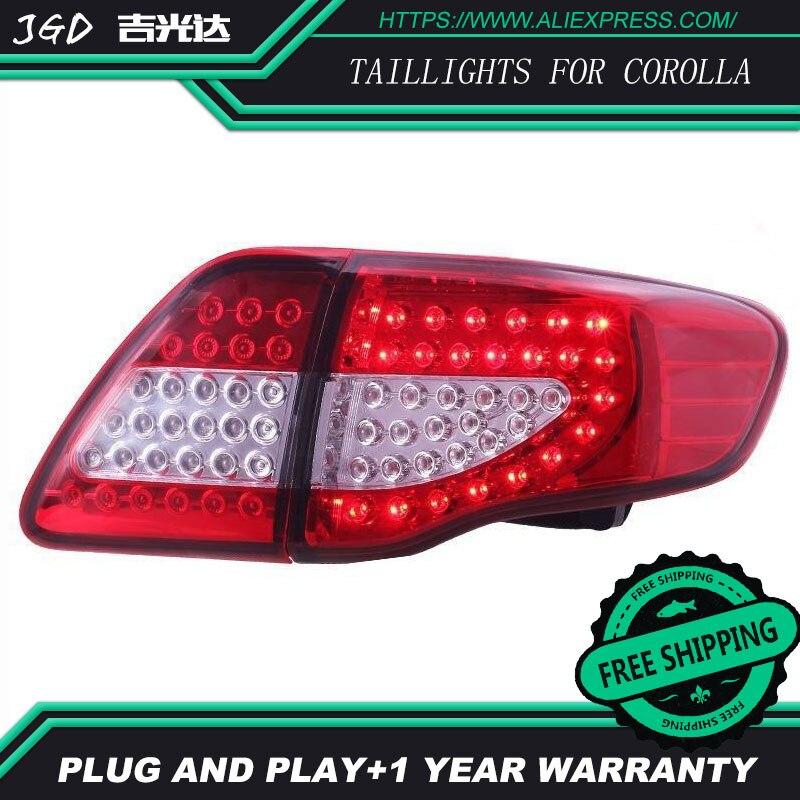 Автомобильный Стайлинг задние фонари для Toyota задние габаритные огни на COROLLA 2007 2010 светодио дный задний фонарь задний багажник лампа крышка