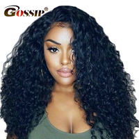 Gossip Hair 180% Curly Human Hair Wigs 360 Lace Frontal Wigs Pre Plucked With Baby Hair Indian Wig Remy Full Human Hair Wigs