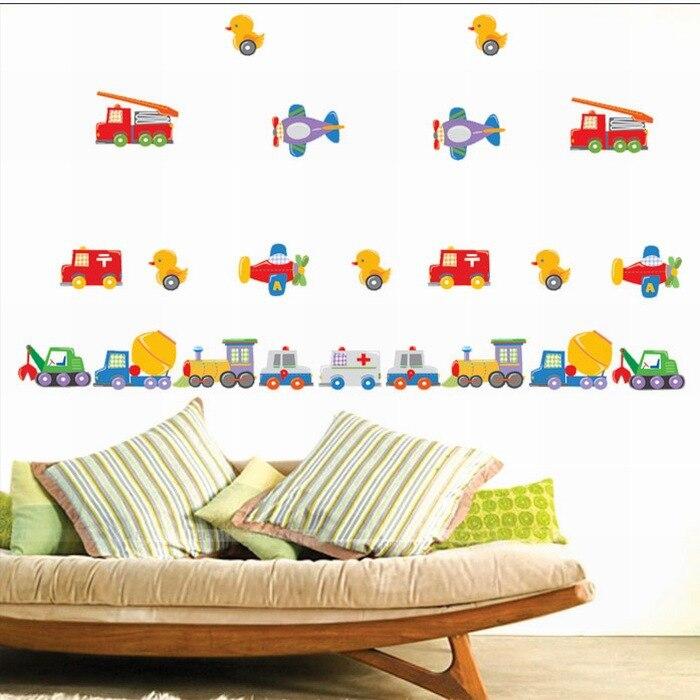 Duck Home Decor: Car Duck Plane Vinyl Removable Home Decor Kids Baby Room