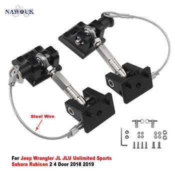 NAWOUK Anti Theft Hood Latch Lock Catch Hardware For Jeep Wrangler JL JLU 2 4 Door 2018 2019 Engine Hood Latches Catches Locking