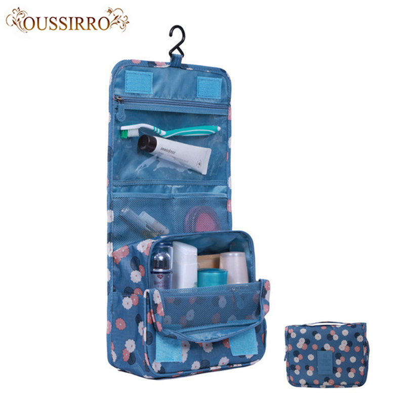 Women Fashion Travel Nylon Water-proof Cosmetics Bags Beauty Makeup Bags Bathroom Organizer Of Portable Bath Hook Washing Up Bag