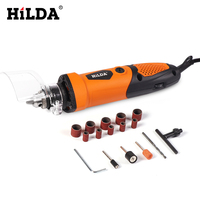 HILDA 220V 450W Electric Drill Dremel Rotary Tool Grinding Power Tool 6 Position Variable Speed for Drem With Accessories