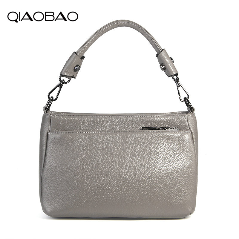 QIAOBAO Fashion Brand New Women Shoulder Bag Real Leather Messenger Bag Famous Designer Crossbody Bag For Ladies Fashion Bag