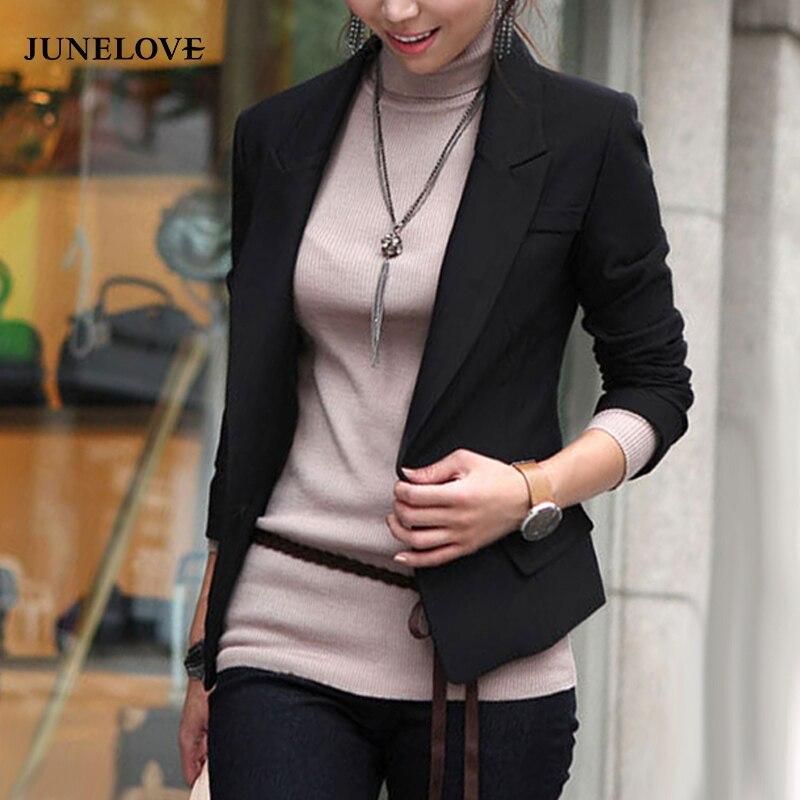 Femme slim ajusté crêpe découpe laser à manches longues blazer casual crop manteau