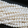 Top quality diy white round acrylic natural pearl loose beads  fit making bracelet necklace jewelry 15inch B1330