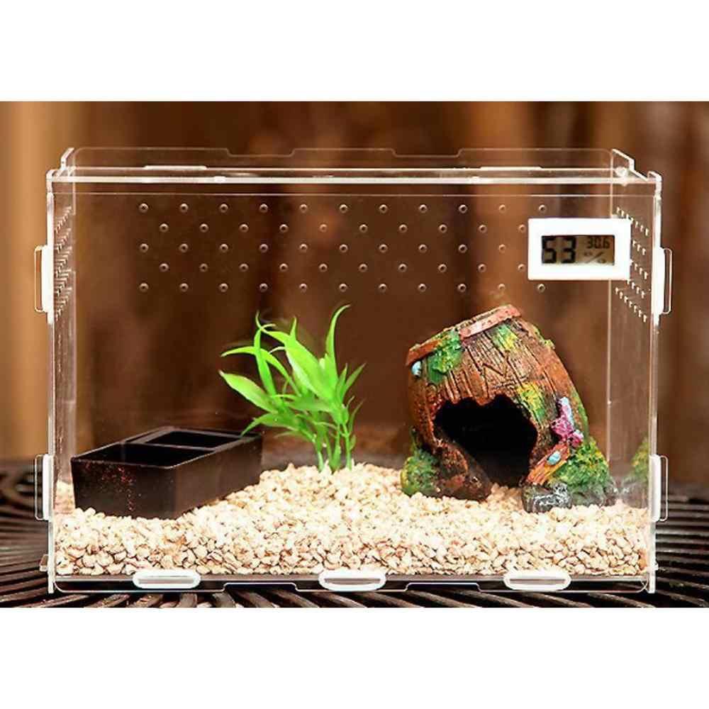 Terarium Reptil Kotak Terra Peternakan Stackable Ular Ikan Transportasi Incubating Gecko Lizard Snake untuk Telur Inkubasi Alat