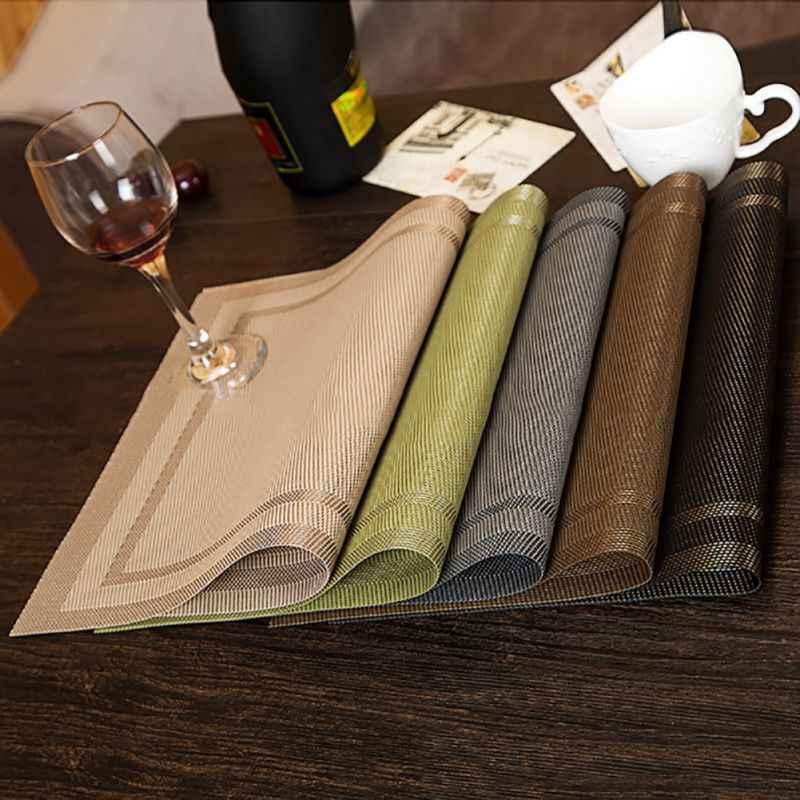 Фото Сервировочные коврики колодки 4 шт. Placemat Мода PVD столовая Посуда коврик под посуду