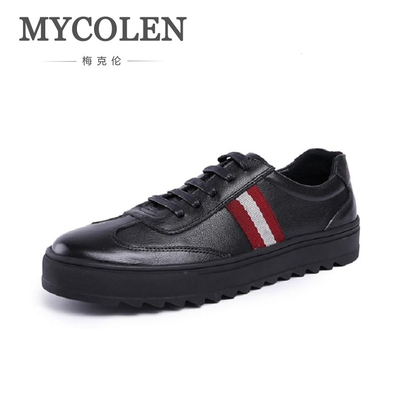 MYCOLEN Genuine Cowhide Leather Men's Business Shoes Fashion Handmade Men Formal Flats Male Moccasins Casual Sapatos Masculino cbjsho brand men shoes 2017 new genuine leather moccasins comfortable men loafers luxury men s flats men casual shoes