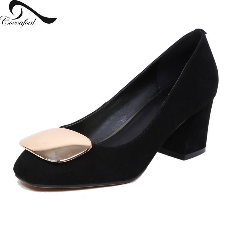 ФОТО 2017 Latest Single Natural leather Black professional shoes Comfortable Professional work shoes Spring new Women pumps shoes