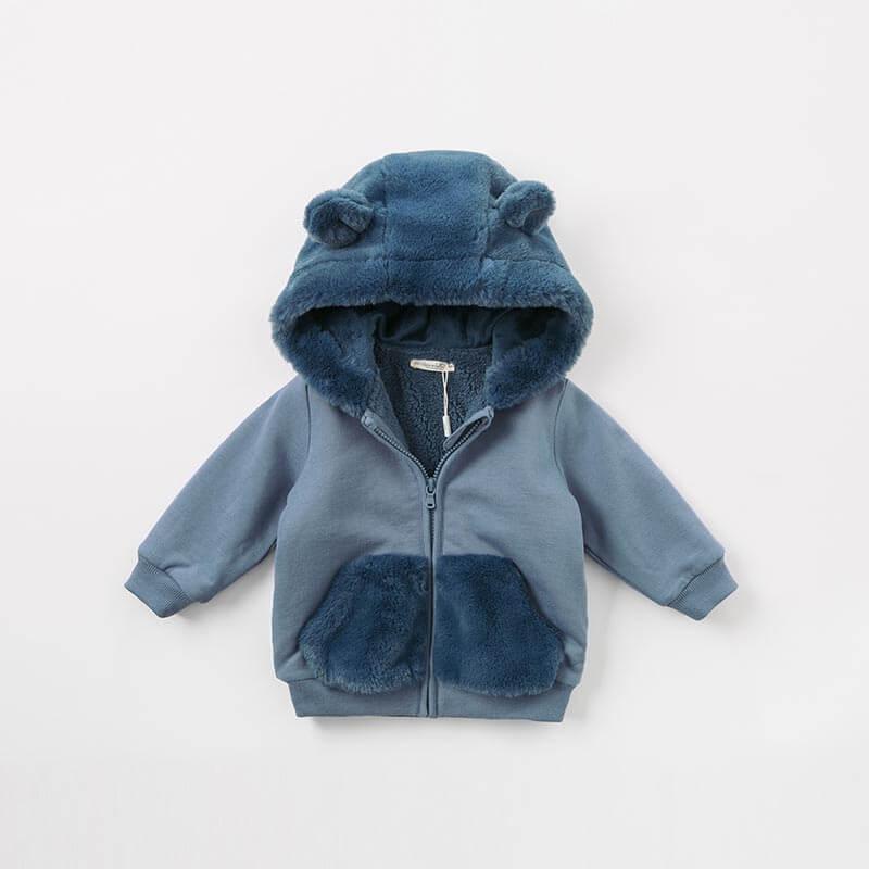 bebe criancas moda externa casaco com capuz 05