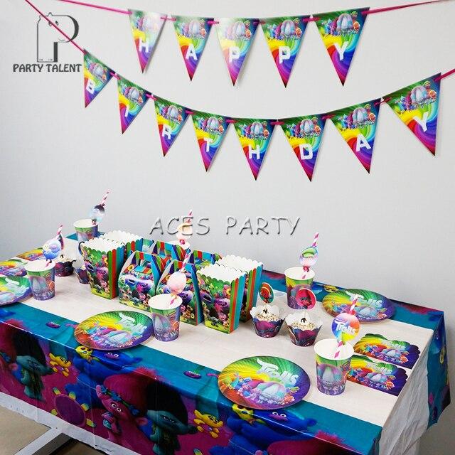 Strona Dostaw 66 Sztuk Dla 8 Dzieci Trolle Theme Urodziny Stołowe
