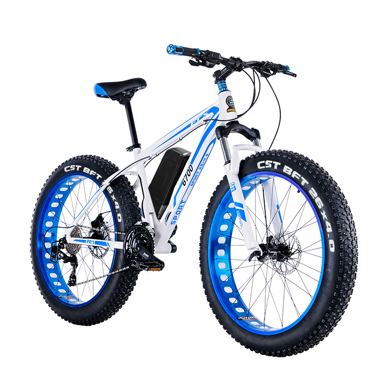 FAT EBIKE 26 Electric mountain bike fat tire electric snow ebike 48V li-ion battery 1500w rear wheel motor Hydraulic E-MTB