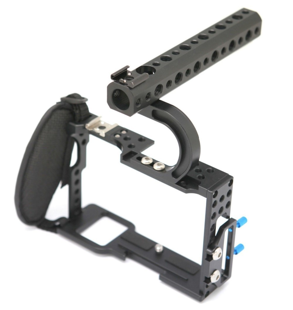 Camera Cage for Sony A7 Series Mirrorless System Camera A7S A7R Protective Case with Handle Grip Kit 40m 130ft waterproof underwater camera diving housing case aluminum handle for sony a7 a7r a7s 28 70mm lens camera