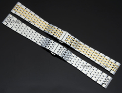 14 16 17 18 19 20 21 22 23 24mm Argent Deux Tons Or Solide En Acier Inoxydable Bracelet Montre bande Pour Rolex Tissot Omega Tag Heuer