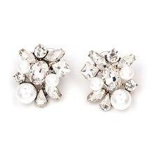 e45602fe3 Crystal pearl stud earrings Oorbellen 2019 fashion women earrings cute  aesthetic tiffan jewelry korean style women accessories