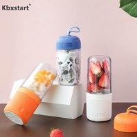 Kbxstart USB Rechargeable Portable Juicer Mixer Vegetable Fruit Juice Bottle Blender Smoothie Maker Without BPA With Bring Cover