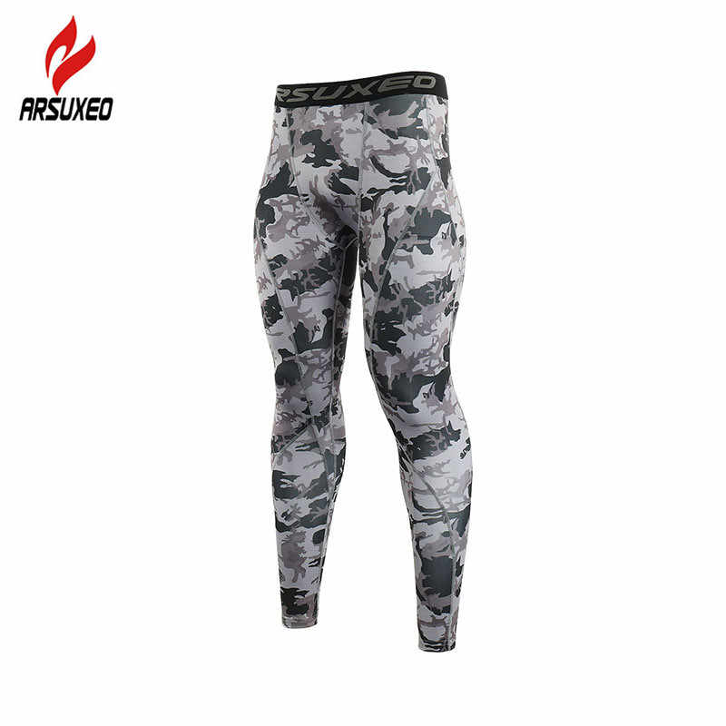 ARSUXEO Men's Compression Pants Running Tights Breathable Elastic Sports Leggings Gym Fitness Training Pants Jogging Trousers