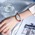 Женские часы с винным бочком  Необычные Двухъядерные часы с двойным циферблатом  для отдыха  женские кварцевые часы lether  g8090  2019