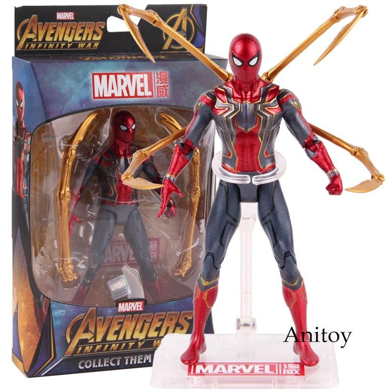 Heißer Spielzeug Marvel Avengers Unendlichkeit Krieg Eisen Spinne Spiderman Action Figure PVC Spinne Mann Figure Sammeln Modell Spielzeug 17 cm