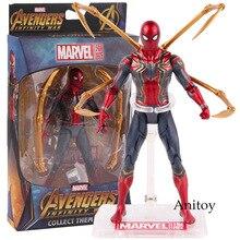 Juguetes calientes Marvel vengadores Infinity War Iron Spiderman figura de acción PVC Spider Man figura coleccionable modelo de juguete 17 cm