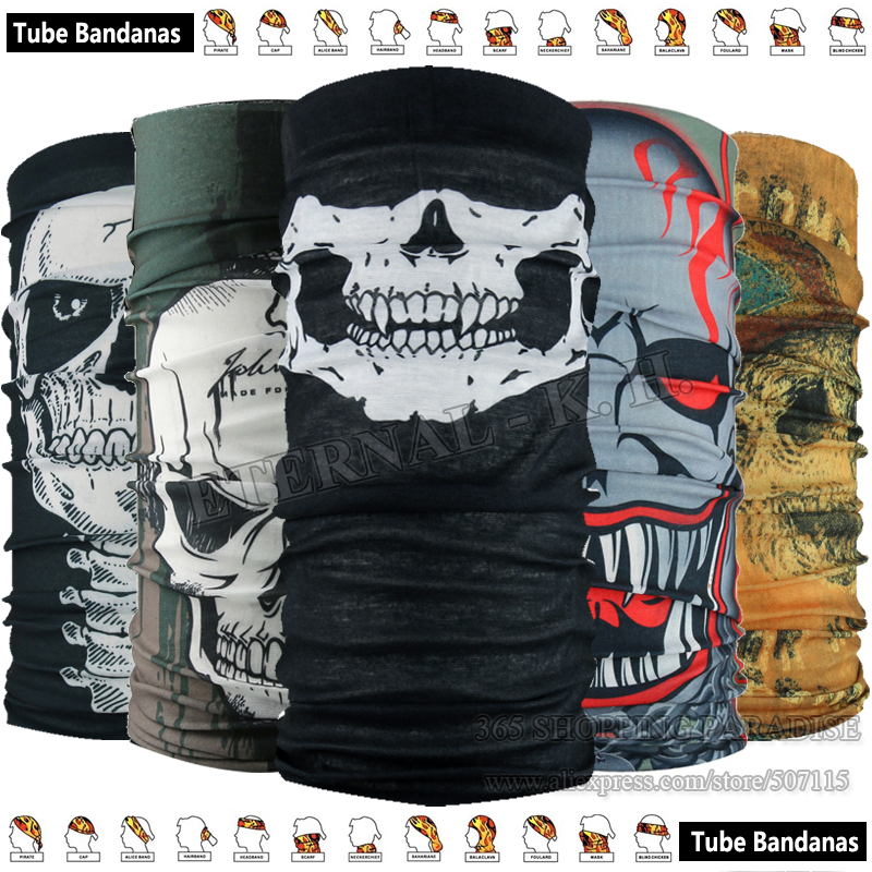 Top Fashion Motorcycle Tubular Magic font b Scarf b font Cycling Skull Bandana Multifunctional Headwear Outdoor