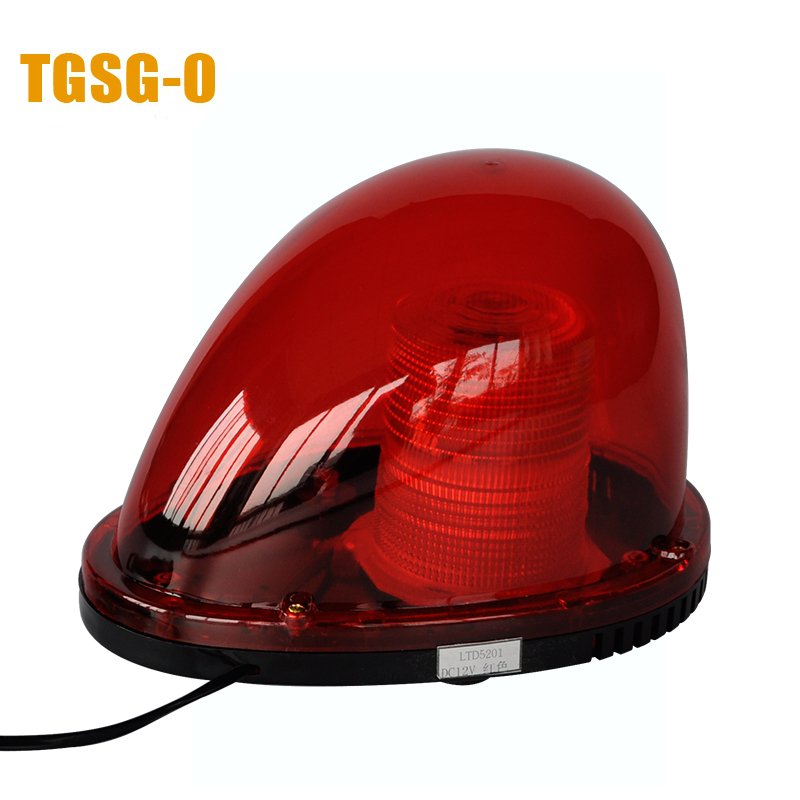 LTD-5201 DC12V/24V Rotary Warning Lamp Alarm Police Fireman Car outside Emergency Strobe Light Vehicle Beacon Tower Signal windshield led strobe light warning light car flash signal emergency fireman police beacon car truck high power bright