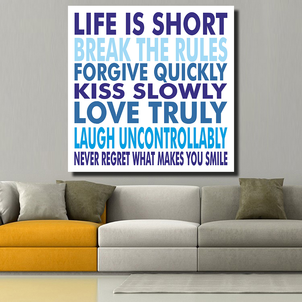 Life Quotes Posters Qkart Life Is Short Motivational Quotes Posters And Prints Oil