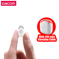 Hidden Earpiece Micro Mono Invisible Headset Mini Wireless Bluetooth Earphone With Mic Single Earbud With 200MAh