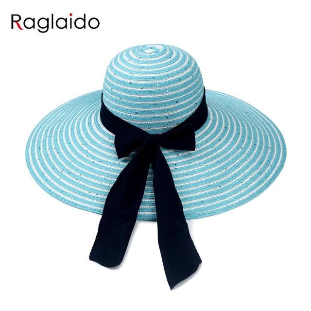 2016 Высокое Качество Дамы Соломенные Шляпы для Женщин Вышивать Блестка Летние Шляпы Ремень Унисекс Большой Брим Beach Sun Шляпы LQJ01111