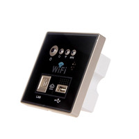 Hotel Home Wall WiFi Socket AP Wall USB Charging 300M Wireless Router Relay Panel AC 110~250V
