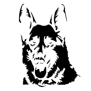 11.3*15.2CM German Shepard Personality Window Decorative Stickers Car Styling Classic Animal Decorative Accessories C6-1282 image