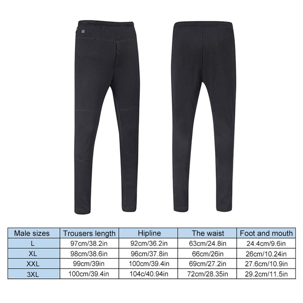Winter Cotton Warm Leggings Trousers USB Charging Intelligent Heating Pants Men Women High Waist Leggings Slim Thickening Pants
