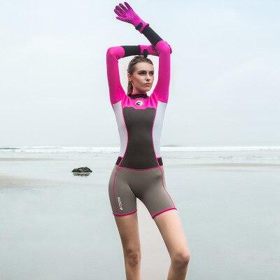 1.5mm Neoprene Short Women Scuba Diving Suits One Pieces Snorkeling Equipment Wetsuits Surfing Rash Guards Bodysuits