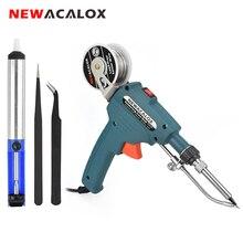 NEWACALOX 110 В/220 В 60 Вт США/ЕС ручной внутренний нагрев паяльник автоматически отправляется оловянный пистолет паяльная Сварка инструмент для ремонта
