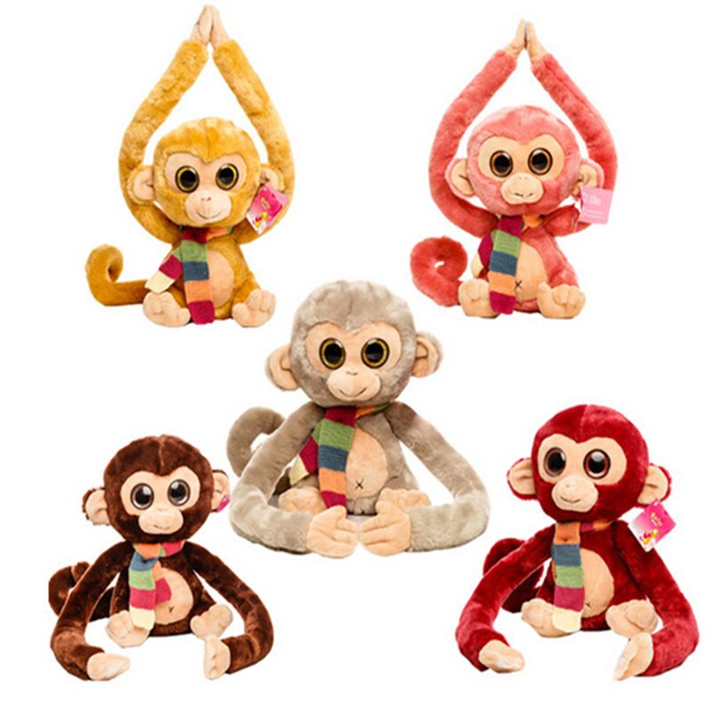 Soft Toys Cartoon : Pcs long arm monkey plush soft toys cartoon stuffed