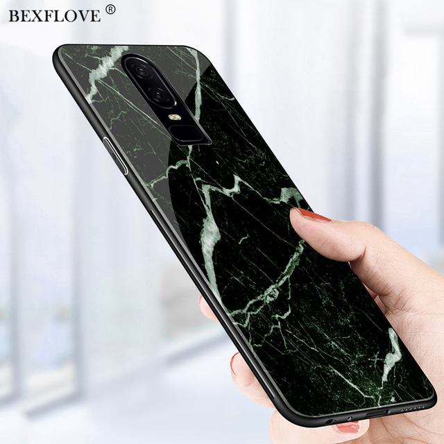 promo code 2a28a ef055 US $3.99 |BEXFLOVE Tempered Glass Marble Case For Oneplus 6 Case Cover For  One plus 6 Case For Oneplus 6 128GB Case Hard Capa For Oneplus6-in Fitted  ...