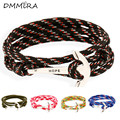 Hot sale Men Women Punk Vintage Anchor Leather Bracelets Braided Multilayers Leather Rope Anchor Clasp Wrap Bracelets Jewelry