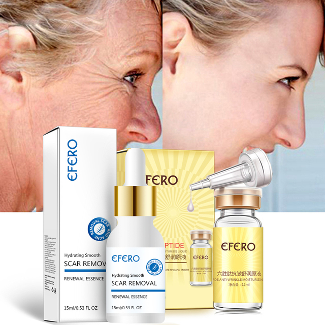 Efero Argireline esencia colágeno seis péptidos Anti arrugas suero para crema facial blanqueamiento reafirmante cuidado de la piel crema facial