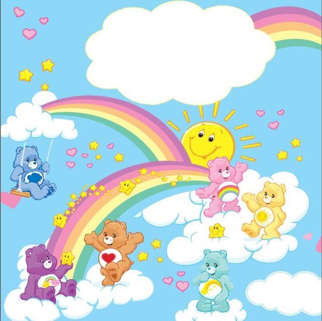 8x8ft Rainbow Sky Care Bears Love Clouds Custom Photo