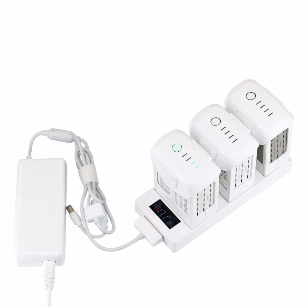 3 in 1 Parallel Charging Board Hub Multi Battery Charger with LED Digital Indicator for DJI Phantom 4 4 PRO 4A Drone Spare Parts dji phantom 4 car charger outdoor charging for intelligent battery 17 5v 4a accessories camera drone parts